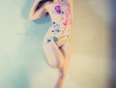 Blue Muse Fine Art - bodypainting - Tokidoki2